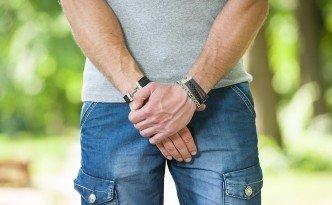 man prostate problem in a park
